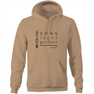 'Down Right Perfect' - AS Colour Stencil - Pocket Hoodie Sweatshirt