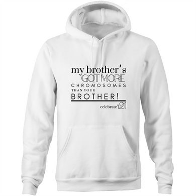 'My Brother' - AS Colour Stencil - Pocket Hoodie Sweatshirt