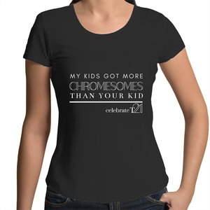 'My Kid' in Black or White - AS Colour Mali - Womens Scoop Neck T-Shirt