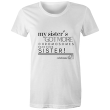 Load image into Gallery viewer, 'My Sister' in Black or White - Sportage Surf - Womens T-shirt