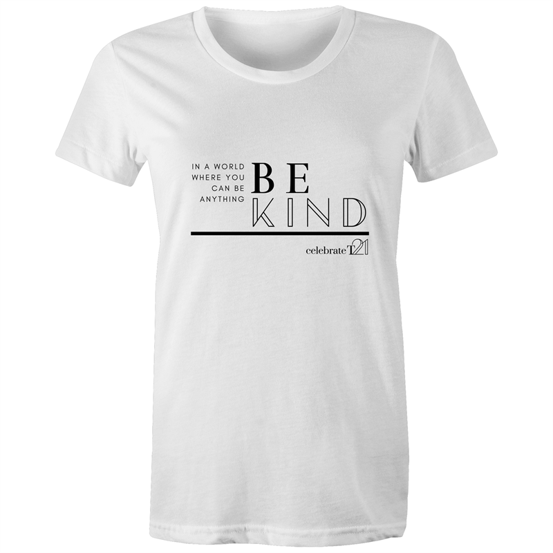 'Be Kind' in White or Black - Sportage Surf - Womens T-shirt