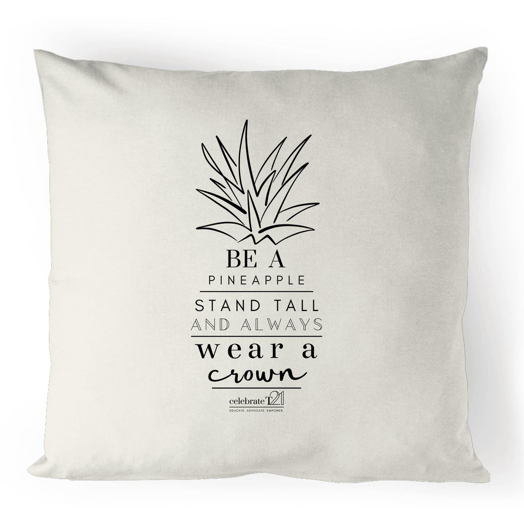 Pineapple Crown - 100% Linen Cushion Cover