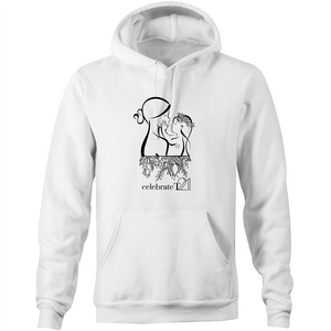 Mother and Daughter - AS Colour Stencil - Pocket Hoodie Sweatshirt
