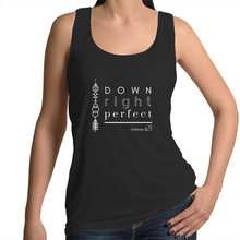 Load image into Gallery viewer, 'Down Right Perfect' in Black or White - AS Colour Tulip - Womens Singlet