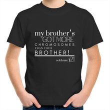 Load image into Gallery viewer, 'My Brother' in Black or White - AS Colour Kids Youth Crew T-Shirt