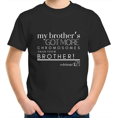 'My Brother' in Black or White - AS Colour Kids Youth Crew T-Shirt