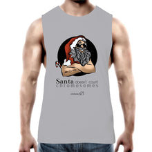 Load image into Gallery viewer, Christmas - 'Santa Doesn't Count Chromosomes' AS Colour Barnard - Mens Tank Top Tee