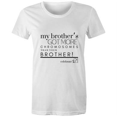 'My Brother' in Black or White - Sportage Surf - Womens T-shirt