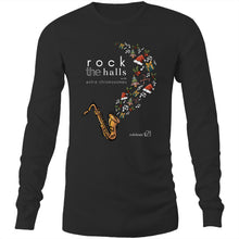 Load image into Gallery viewer, Rock The Halls - 2 designs Sportage Hawkins - Long Sleeve T-Shirt