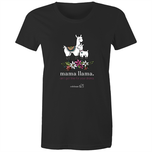 Mama Lama – Assorted Colours - Sportage Surf - Womens T-shirt