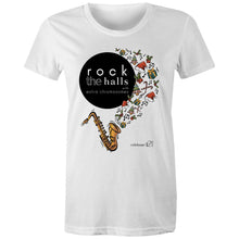 Load image into Gallery viewer, Rock The Halls - 2 designs AS Colour - Women's Maple Tee
