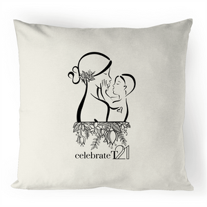 'Mother & Son' -  100% Linen Cushion Cover