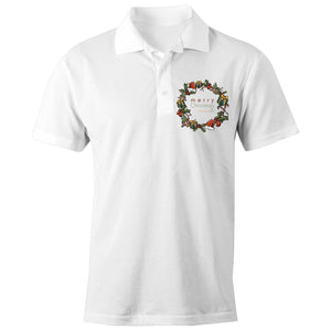 Christmas - 'Celebrate T21 Christmas Wreath' AS Colour Chad - S/S Polo Shirt