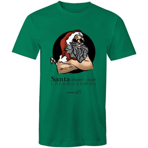 Christmas - 'Santa Doesn't Count Chromosomes' AS Colour Staple - Mens T-Shirt