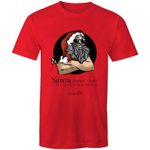 Load image into Gallery viewer, Christmas - 'Santa Doesn't Count Chromosomes' AS Colour Staple - Mens T-Shirt
