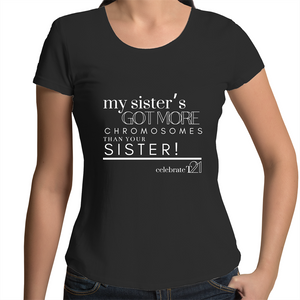 'My Sister' in Black or White - AS Colour Mali - Womens Scoop Neck T-Shirt