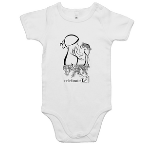 'Mother & Daughter' in WHITE only - AS Colour Mini Me - Baby Onesie Romper