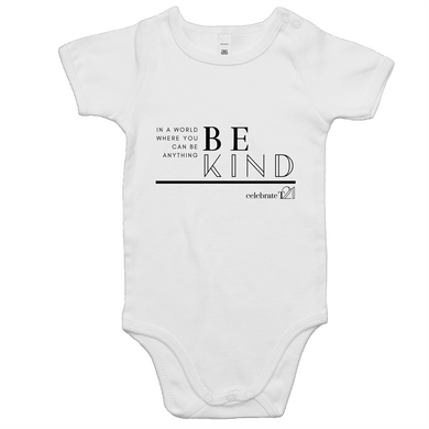'Be Kind' White Only ' - AS Colour Mini Me - Baby Onesie Romper