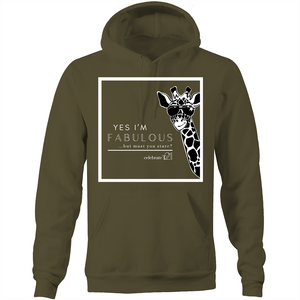 'Giraffe' - AS Colour Stencil - Pocket Hoodie Sweatshirt