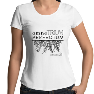 'OTP Flowers' in Black or White - AS Colour Mali - Womens Scoop Neck T-Shirt