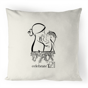 'Mother & Daughter' - 100% Linen Cushion Cover