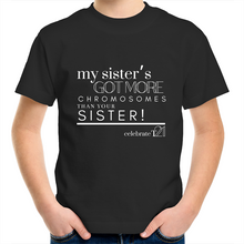 Load image into Gallery viewer, 'My Sister' in Black or White - AS Colour Kids Youth Crew T-Shirt