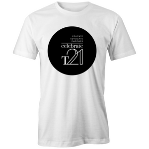 'Celebrate T21' White Only  - AS Colour - Classic Tee
