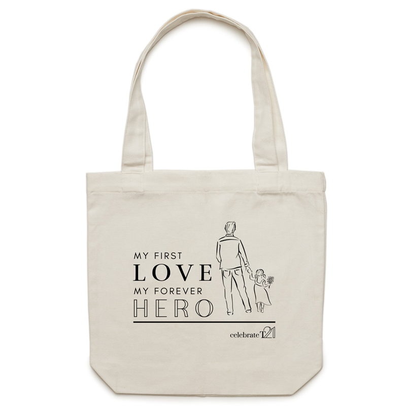 Father and Daughter - AS Colour - Carrie - Canvas Tote Bag