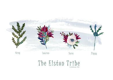 My Tribe Personalised Print  - FLORAL