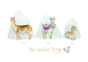 My Tribe Personalised Print  - LAMA 3