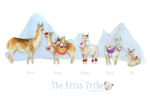 My Tribe Personalised Print  - LAMA 5