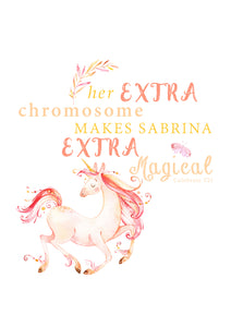 Personalised Prints - Magical Unicorn Girl