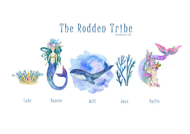 My Tribe Personalised Print  - UNDER THE SEA A