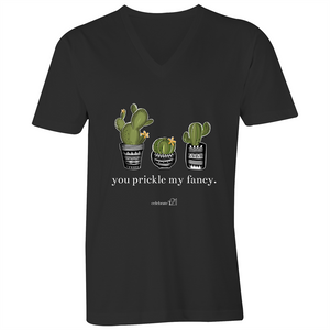 'Prickle Collection' Assorted Wording and Colours - AS Colour Tarmac - Mens V-Neck Tee