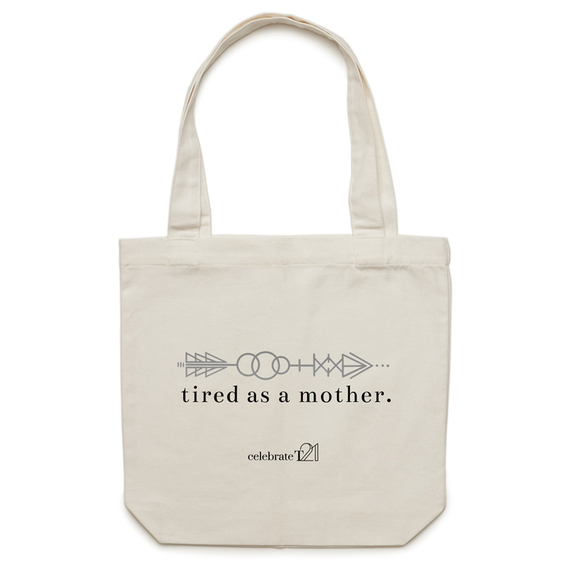 Tired As A Mother – AS Colour - Carrie - Canvas Tote Bag