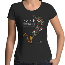 Load image into Gallery viewer, Rock The Halls - 2 designs Colour Mali - Womens Scoop Neck T-Shirt