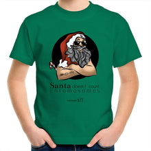 Load image into Gallery viewer, Christmas - 'Santa Doesn't Count Chromosomes' AS Colour Kids Youth Crew T-Shirt