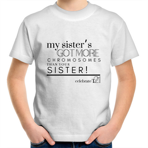 'My Sister' in Black or White - AS Colour Kids Youth Crew T-Shirt