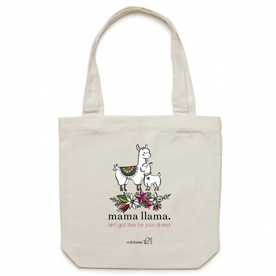 Mama Lama – Assorted Colours- AS Colour - Carrie - Canvas Tote Bag