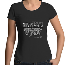 Load image into Gallery viewer, 'OTP Flowers' in Black or White - AS Colour Mali - Womens Scoop Neck T-Shirt
