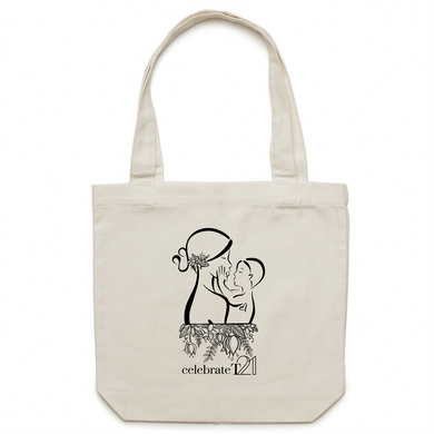 Mother and Son -AS Colour - Carrie - Canvas Tote Bag