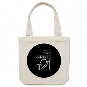 'Celebrate T21' logo - AS Colour - Carrie - Canvas Tote Bag
