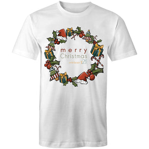 Christmas - 'Celebrate T21 Christmas Wreath' AS Colour Staple - Mens T-Shirt