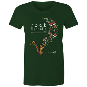 Rock The Halls - 2 designs AS Colour - Women's Maple Tee
