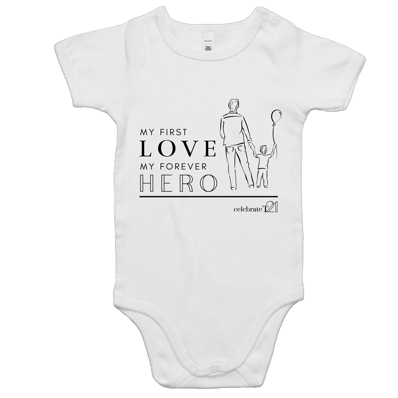 Father and Son - AS Colour Mini Me - Baby Onesie Romper