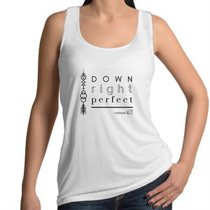 'Down Right Perfect' in Black or White - AS Colour Tulip - Womens Singlet