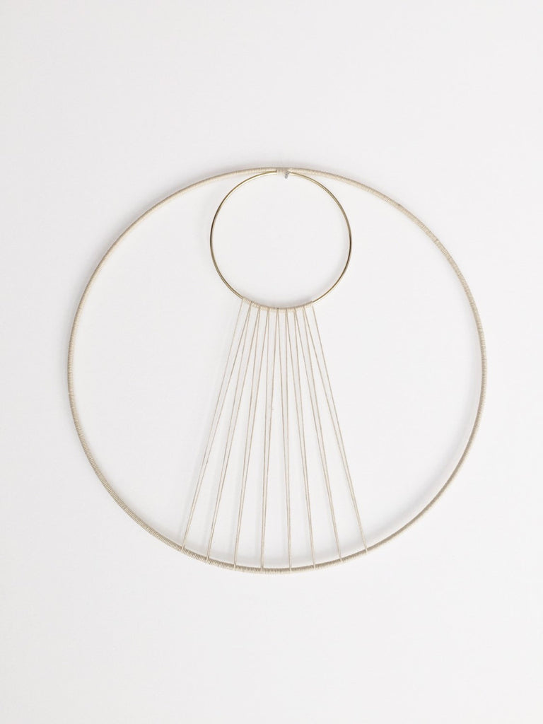 Eclipse Hemp and Brass Wall Hanging