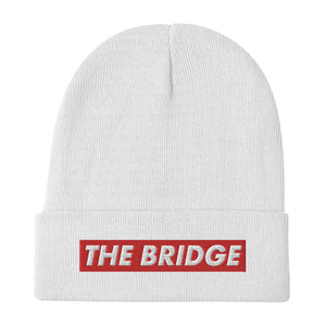 "The Bridge ""Red Bar"" Embroidered Beanie"