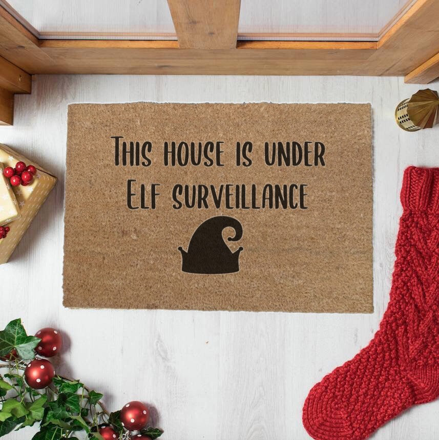 This House Is Under Elf Surveillance Doormat