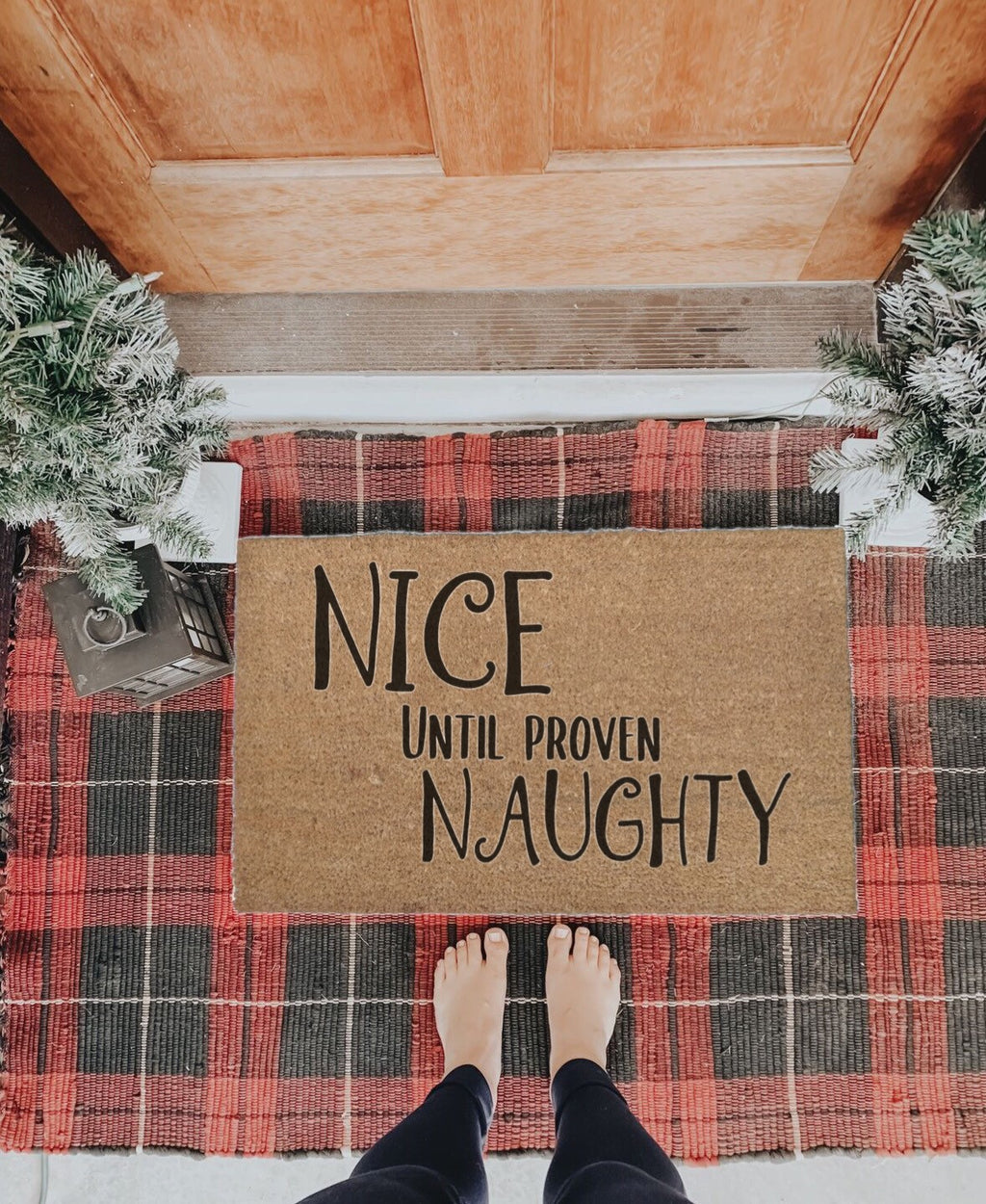 Nice Until Proven Naughty Doormat